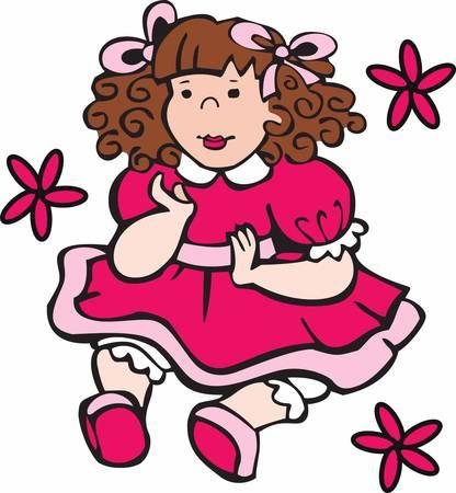 어린 소녀를위한 완벽한 babysafe 인형. 콩코드의 디자인을 고르세요. 일러스트