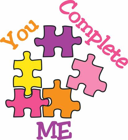 A jigsaw piece that can be reproduced as many times as needed.Pick those design by concord.