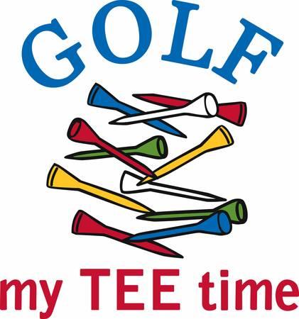 Groene golf tas met een gele ster vol met clubs.