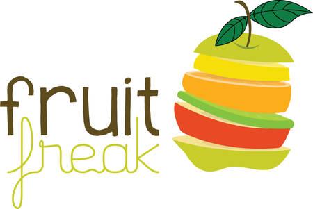Bereid een lekker en gezond fruit salade met dit ontwerp fruit plakjes van Concord Stockfoto - 41150026