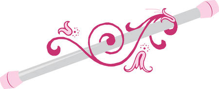Let the your spirit soar With cheerleader baton designs by Concord Illustration