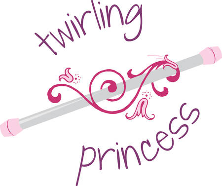 twirling: Let the your spirit soar With cheerleader baton designs by Concord Illustration