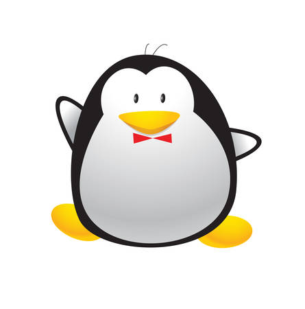 Look at this penguin he is adorable Say hello to this cute penguin Ilustração