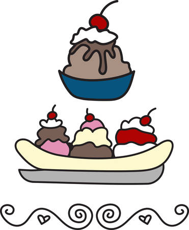 I scream you scream we all scream for ice cream  Add this frozen treat to your project for the perfect decoration. Çizim