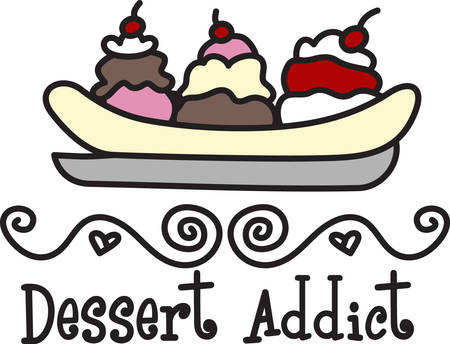 frozen treat: I scream you scream we all scream for ice cream  Add this frozen treat to your project for the perfect decoration. Illustration
