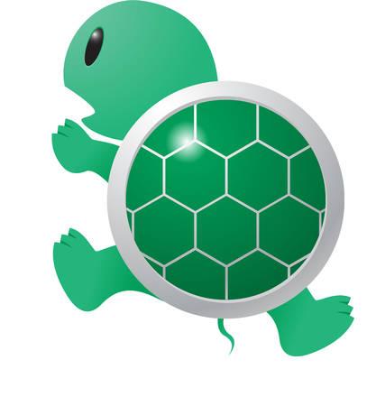ここでは、すべての緑のかわいい小さな亀動物グッズです。  イラスト・ベクター素材