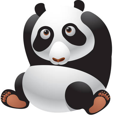 This panda is totally chilled out and relaxed You will just love this design Illustration
