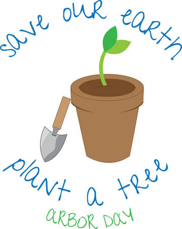 Seedling helps us to grow  plant and tree . Pick those design by Concord. Stock Vector - 41150163