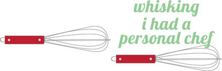 wire whisk: Bring some inspiration to the kitchen with this wire whisk.