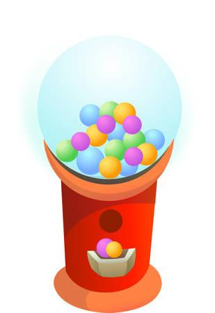 distribution automatique: Une machine � gommes est un jouet ou un appareil commercial d'un type de distributeur en vrac qui distribue bonbons. Choisissez les conceptions de Concord