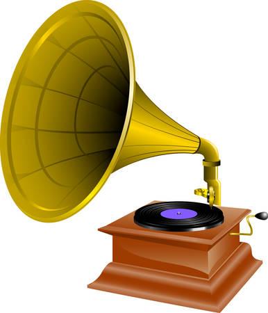 Nehmen Sie Ihre Musik und Reden, die nah am Herzen mit dieser gramaphone Designs von Concord ist Standard-Bild - 41150242