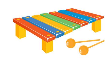 Mooie muziek instrument xylofoon Stock Illustratie