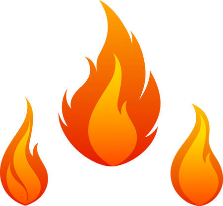 Add these flames to the top of a pocket on a shirt. Иллюстрация