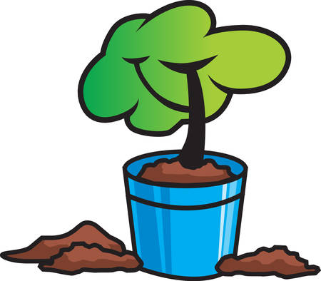 This growing tree is a cute design to add to a gift for a gardener.