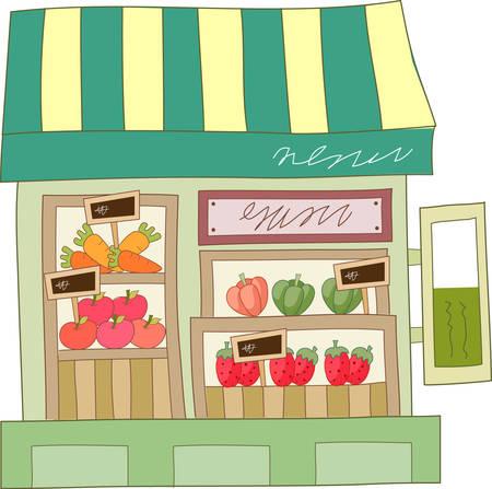 Deze supermarkt is een perfect ontwerp toe te voegen aan uw volgende project. Stockfoto - 41150294