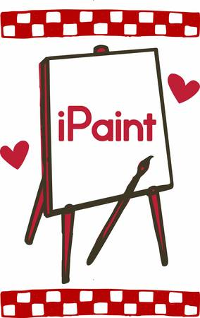 easel: Painting does not comes from the easel.