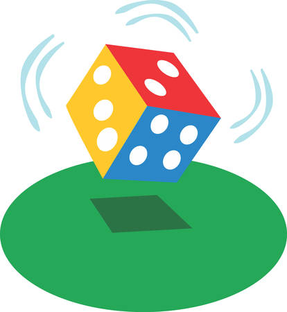 Throwing dice is a fun game.  Use this for your next design.
