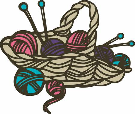 A knitter only appears to be knitting yarn. Also being knitted are winks mischief sighs fragrant possibilities wild dreams