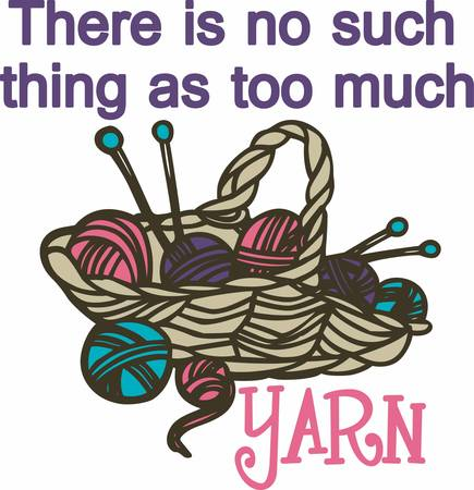 possibilities: A knitter only appears to be knitting yarn. Also being knitted are winks mischief sighs fragrant possibilities wild dreams