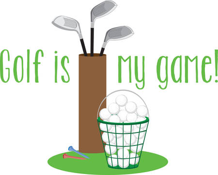 whose: Golf is a game whose aim is to hit a very small ball into an ever smaller hole. Pick those design by Concord. Illustration