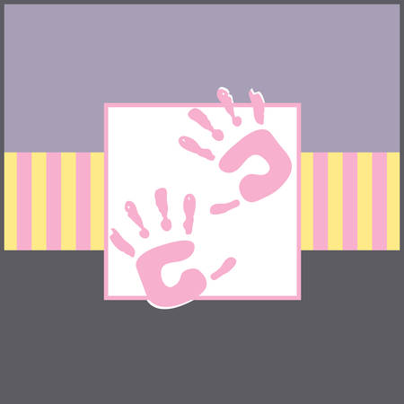 Feel Soft to touch baby hands square designs by Concord Ilustrace