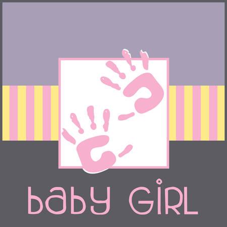 赤ちゃん手正方形デザイン コンコードをタッチするソフトを感じる