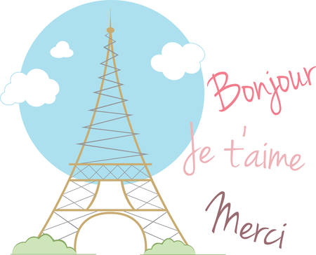 bonjour: Remember that wonderful vacation to Paris with this Eiffel Tower design.