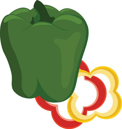 味をパンチするカラフルなピーマンのペックとコンコードで食事設計の栄養成分を選ぶ