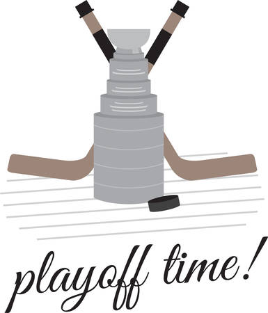 Play well to become Hockey champion. Pick those design by Concord. Ilustração