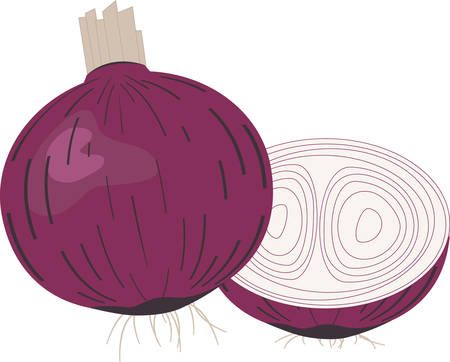 onion slice: We cannot imagine a world without onion.  Bring ononions and fight against diseases.Pick those designs by Concord