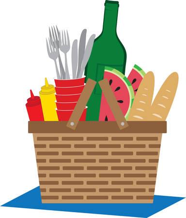 Picnic baskets are standard equipment at many picnics.