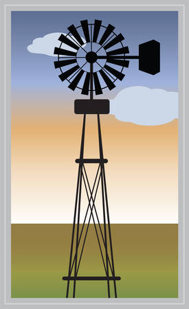 wind power: Farm Wind Power are ideal for agricultural and farming use. Illustration