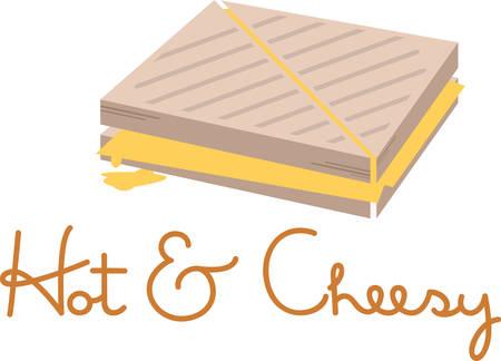 グリルチーズ サンドイッチは、子供のための偉大なランチです。  イラスト・ベクター素材