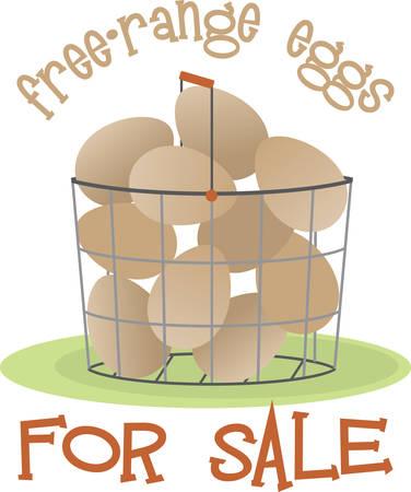 農場の新鮮な卵でバスケットを埋める