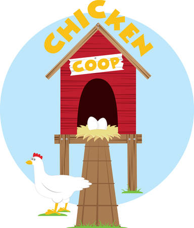 chicken coop: Protect your chicken with this coop Illustration