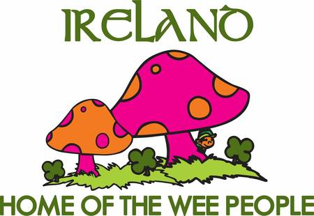 Collect the colourful Irish mushrooms . Pick those designs by Concord
