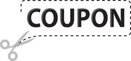 Als je denkt aan couponing je foto een moeder snijden coupons uit de achterkant van de krant. Stock Illustratie
