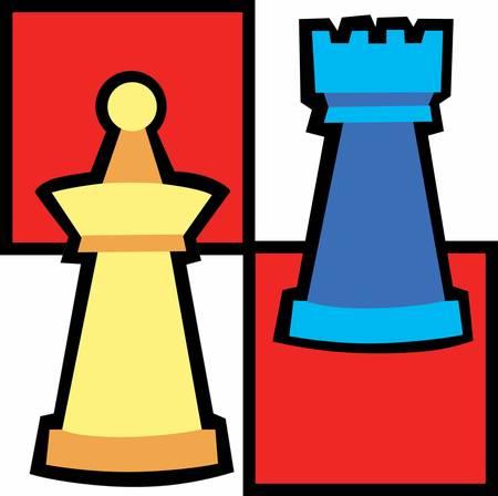 Chess player are so intelligent . Pick those design by Concord. Ilustração