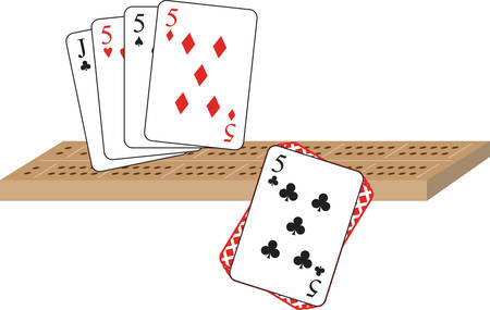 Hold all your cards in one hand and win the game. Stock Illustratie