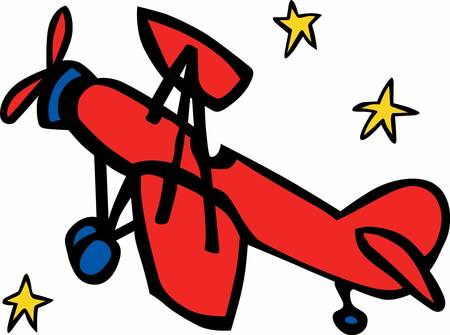 enjoy space: Fly in Red airplane to enjoy the space ride. Pick those design by Concord. Illustration