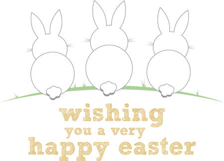 leveret: These cute bunnies are perfect for your Easter design.
