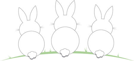 cony: These cute bunnies are perfect for your Easter design.