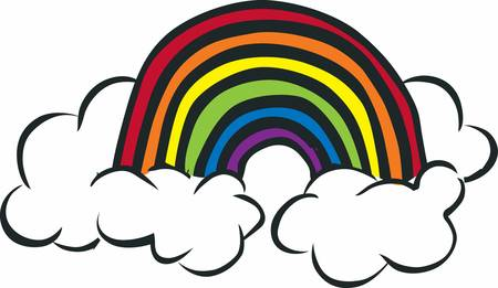 The greater your storm the brighter your Rainbow. Pick those design b y Concord Illustration