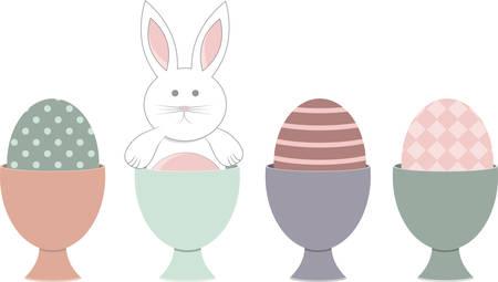 cottontail: Estos conejitos lindos son perfectos para el dise�o de su Pascua. Vectores