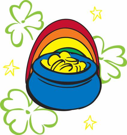 leprechauns: Save your money with the help of Leprechauns pot of gold designs by Concord Illustration