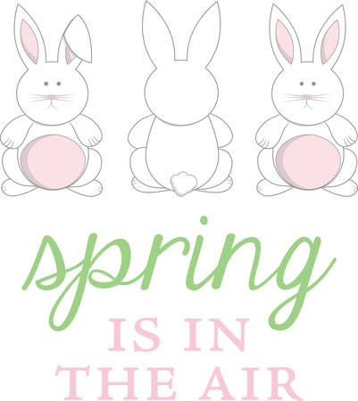 These cute bunnies are perfect for your Easter design.