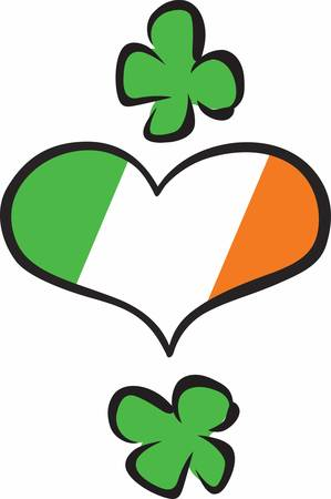 ireland flag: Collect the wide range of Ireland Flag Hearts designs by Concord Illustration