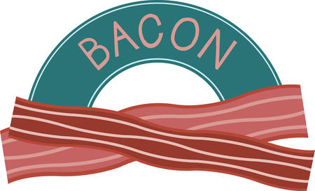 Nothing beats the smell of bacon in the morning.Pick those design by Concord. Illustration