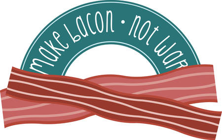 bacon strips: Nothing beats the smell of bacon in the morning.Pick those design by Concord. Illustration