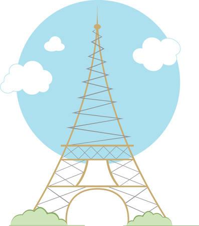 이 에펠 탑 디자인으로 파리에 멋진 휴가를 보내십시오.